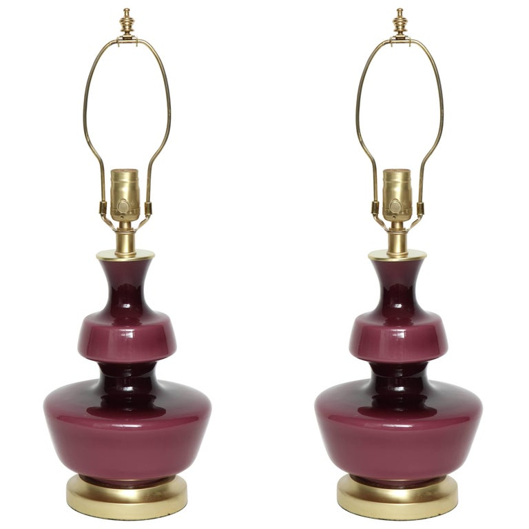 Holmegaard Raspberry Glass Lamps For Sale