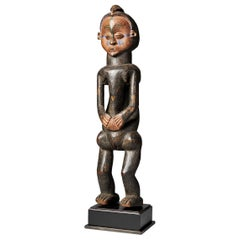 Holo People, DRC, Female Holo Statue 'Mvunzi' with Traces of Polychrome