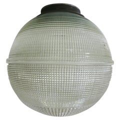 Holophane Ball Ceiling Glass Globe Pendant