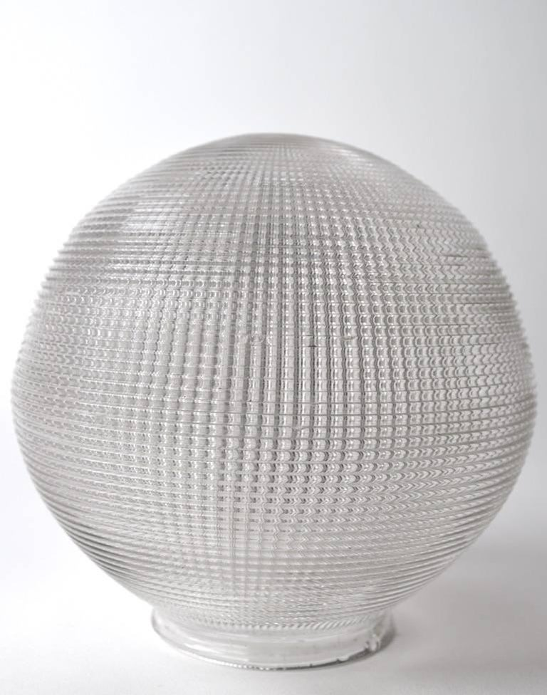 American Holophane Ball Fixture Chandelier For Sale