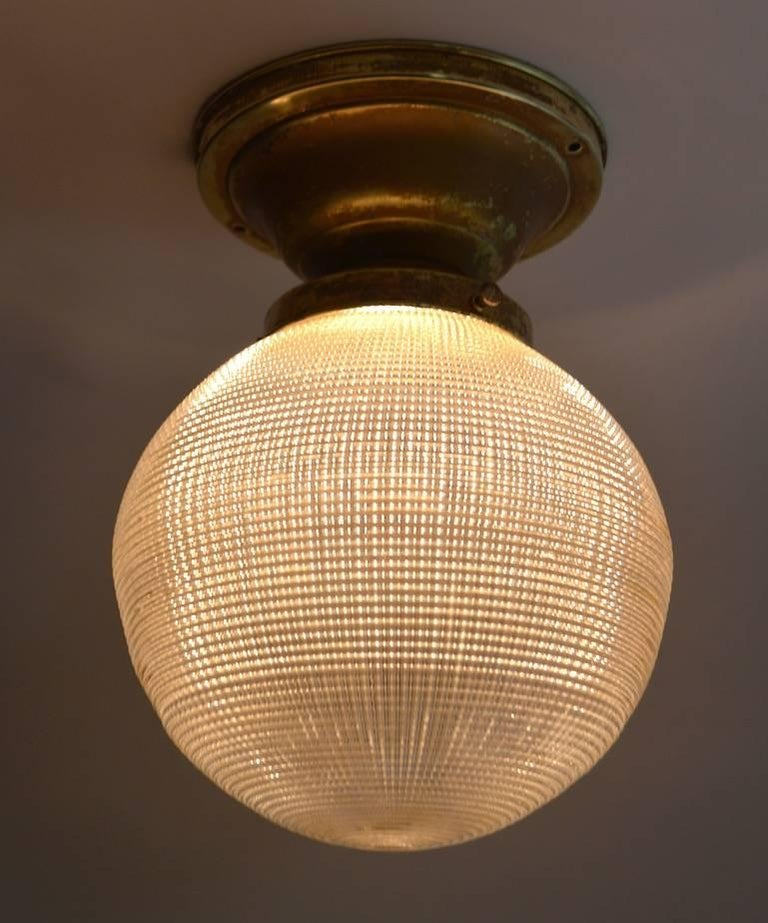 20th Century Holophane Ball Fixture Chandelier For Sale