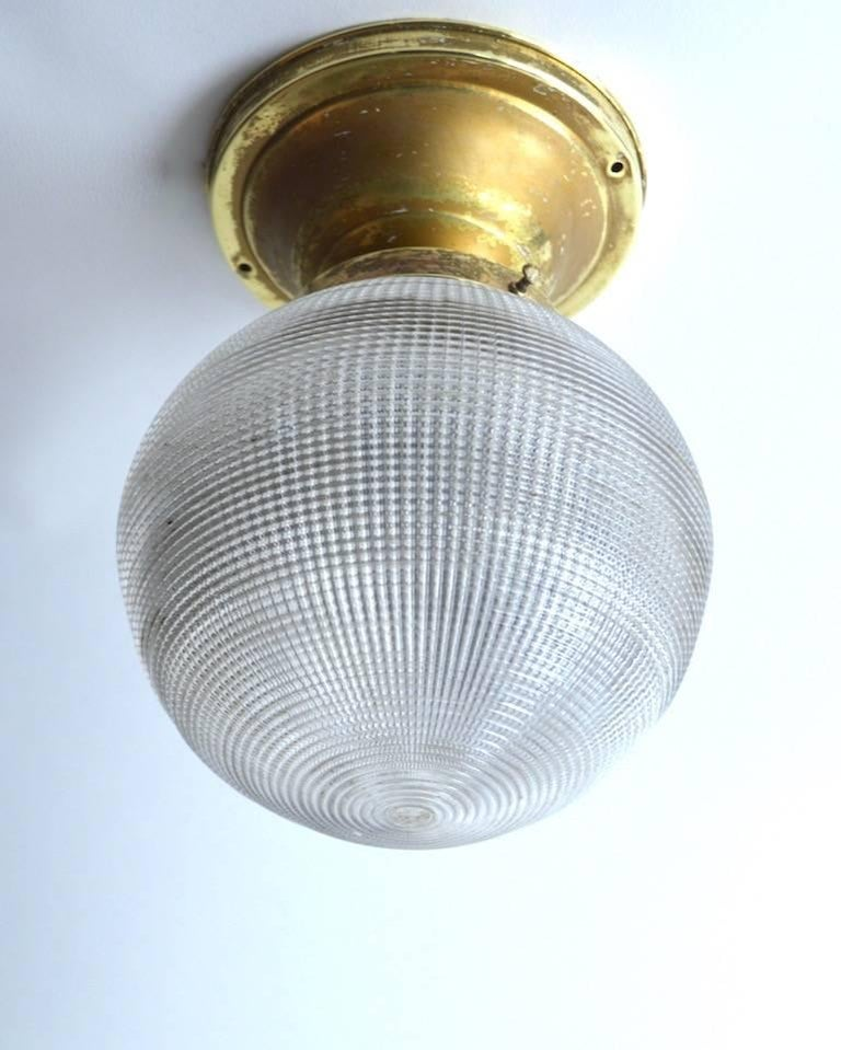 Holophane Ball Fixture Chandelier For Sale 1