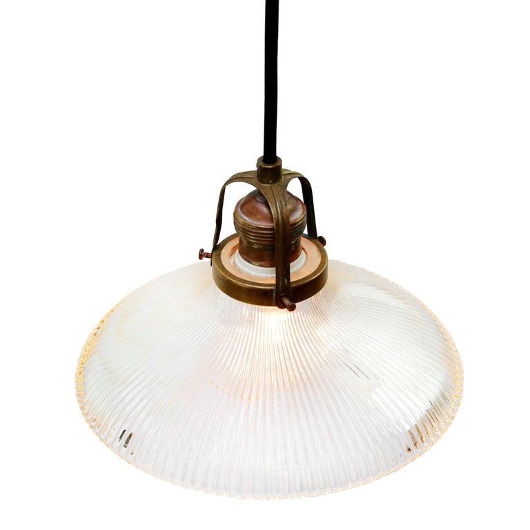 Vintage American Holophane glass lampshades. Measures: 2 meter / 80