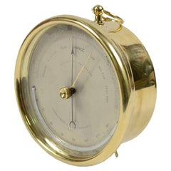 Holosteric Barometer Made of Brass and Glass, Late 19th Century