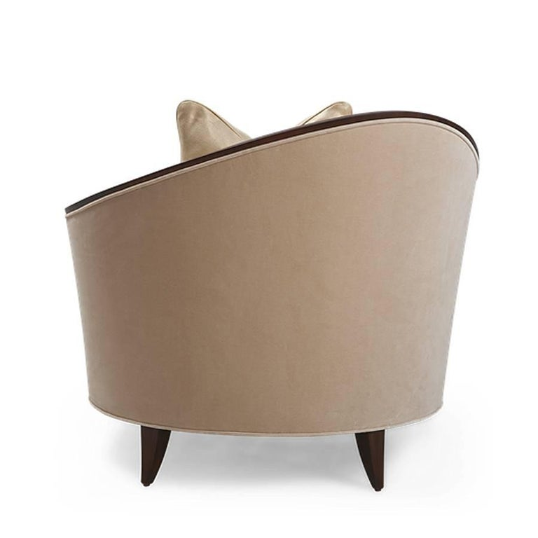 Holton Left Armchair or Right in Solid Veneered Mahogany In Excellent Condition For Sale In Paris, FR