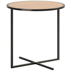 Viccarbe Holy Day table, Matt Oak and Black Finish by Jean-Marie Massaud