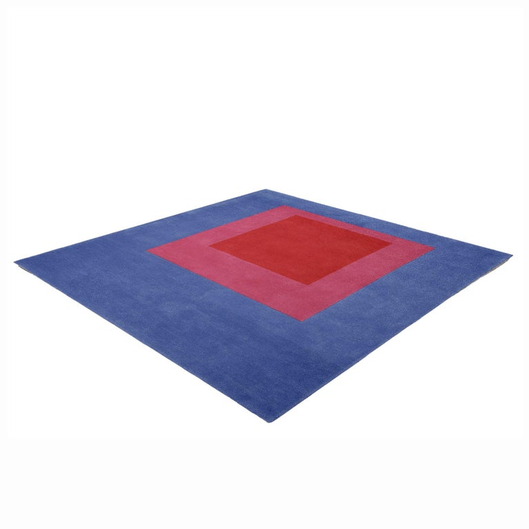 This beautiful, hand-tufted, 100% wool rug is adapted from the 1951 oil on masonite painting by Josef Albers. The rug is available in a limited edition of 150 and produced in association with the Josef and Anni Albers foundation.