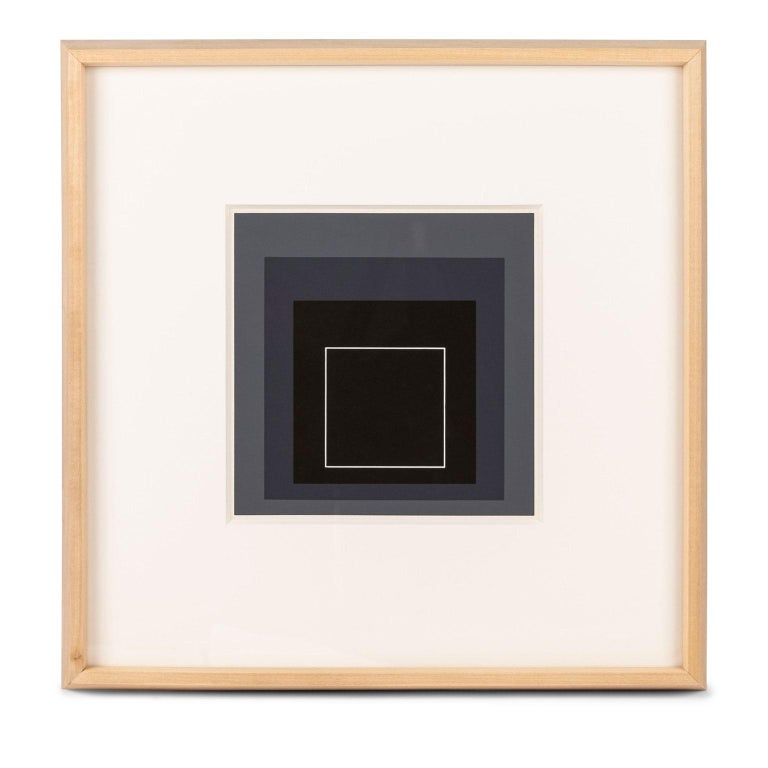 Mid-20th Century Homage to the Square Serigraph by Josef Albers