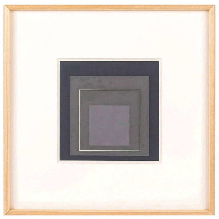 Paper Homage to the Square Serigraph by Josef Albers