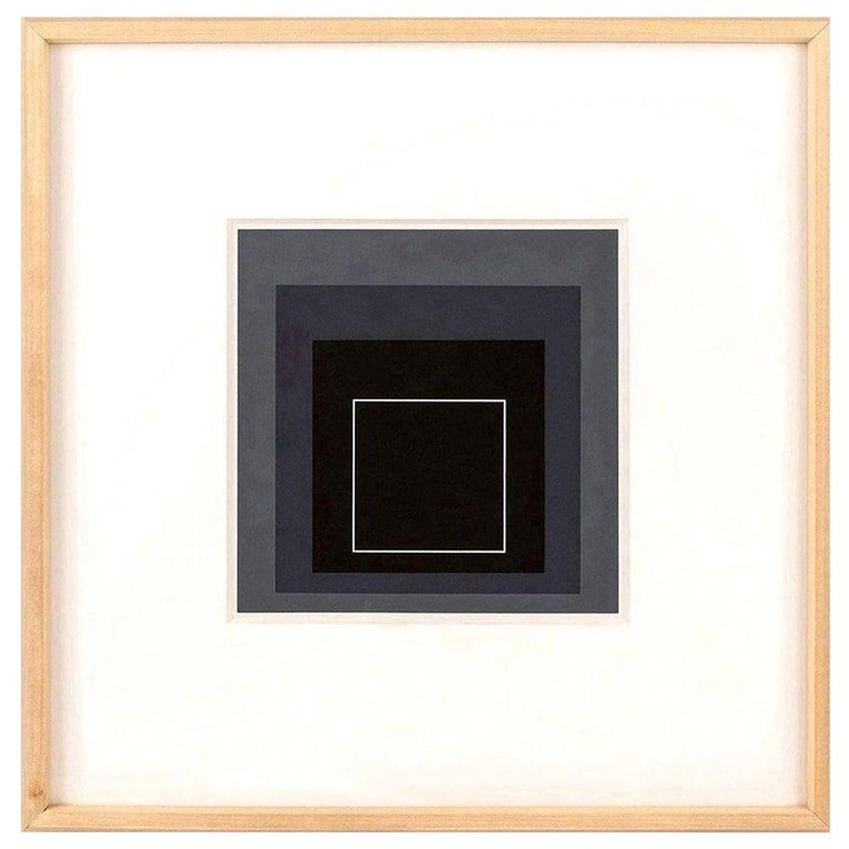 Glass Homage to the Square Serigraph by Josef Albers