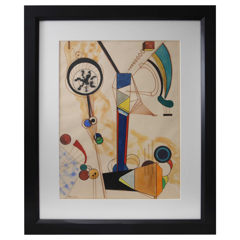 Homage to Vasily Kandinsky, Gouache on Paper