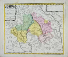 Map of Tabula Geographica Territorium Civitatis Svevo=Hallensis by Homann 1762