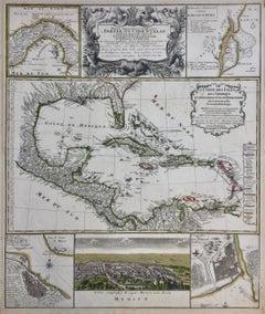 SOUTHERN US, FLORIDA, MEXICO & CARRIBIAN etc. - Mappa  INDIAE OCCIDENTILIS..