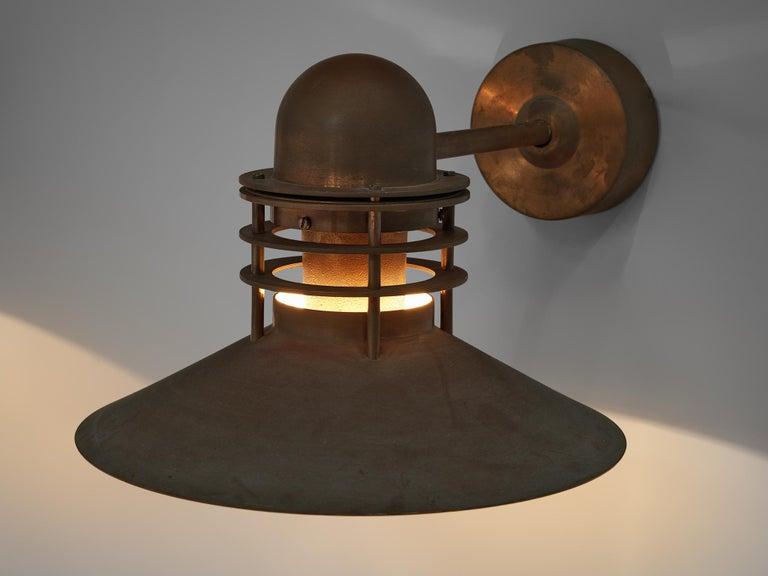 Danish Homann & Kjær for Louis Poulson Wall Lamps 'Nyhavn' in Copper