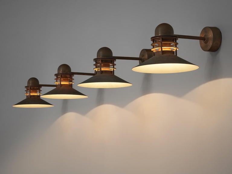 Homann & Kjær for Louis Poulson Wall Lamps 'Nyhavn' in Copper In Good Condition In Waalwijk, NL