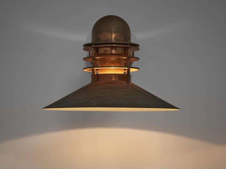 Late 20th Century Homann & Kjær for Louis Poulson Wall Lamps 'Nyhavn' in Copper