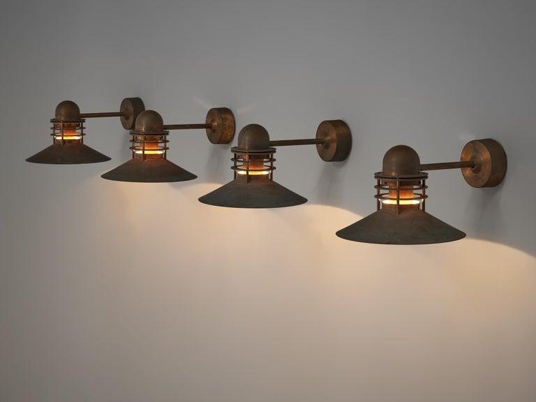 Homann & Kjær for Louis Poulson Wall Lamps 'Nyhavn' in Copper 2