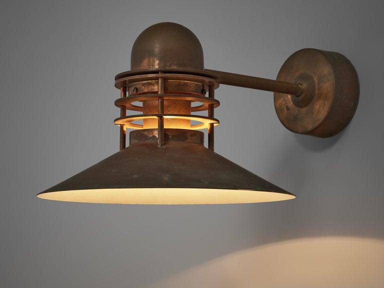 Homann & Kjær for Louis Poulson Wall Lamps 'Nyhavn' in Copper 3