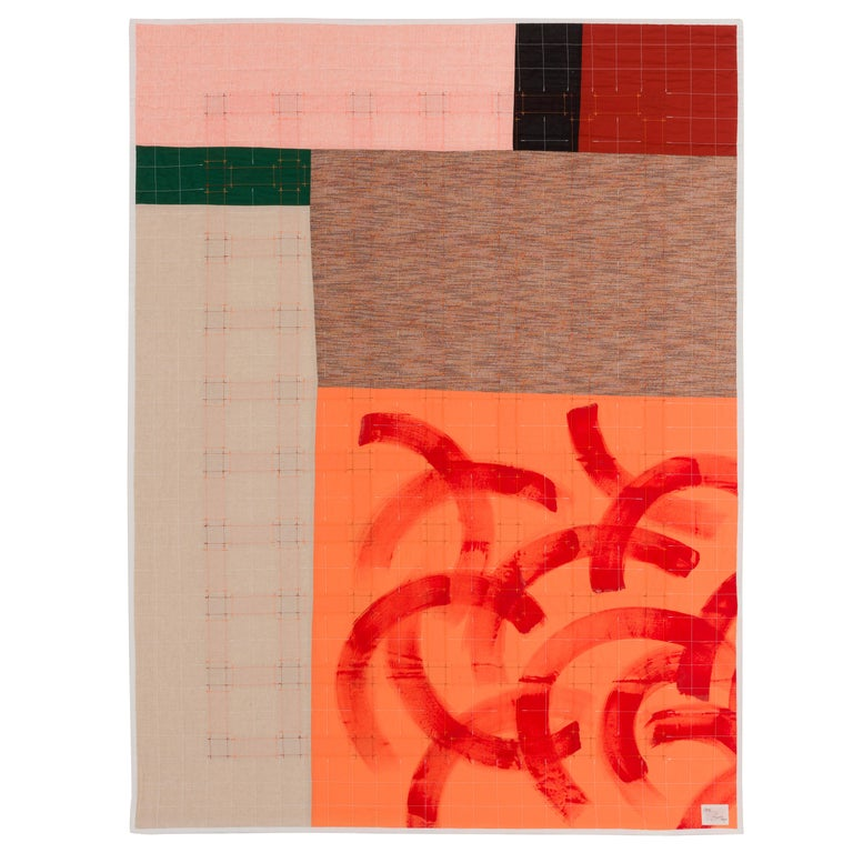"""""""Home"""" is a cotton quilt designed to recall traditional quilt patterns with a dedication to place and our relationship with it. Quilts are often used as a means to tell stories and, whether you're near or far from whatever you place you call home,"""
