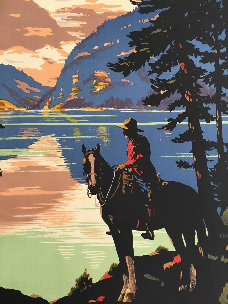 Unknown Home Via Canada Canadian Pacific, Original Vintage Poster by Trompf, 1930s