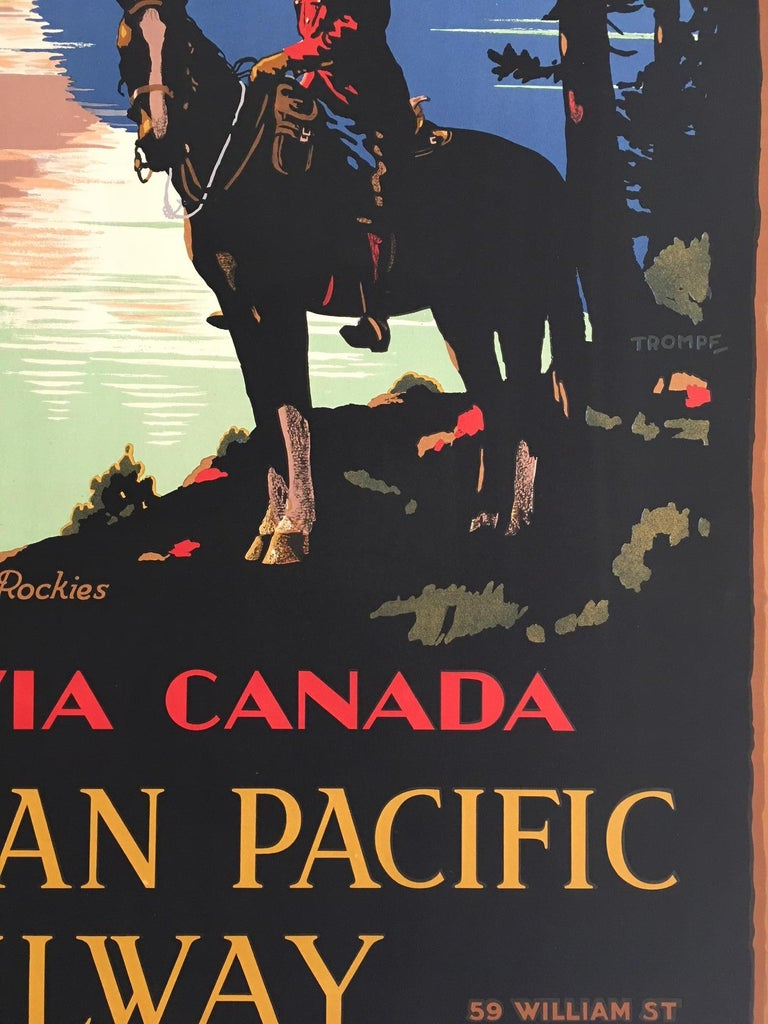 Mid-20th Century Home Via Canada Canadian Pacific, Original Vintage Poster by Trompf, 1930s
