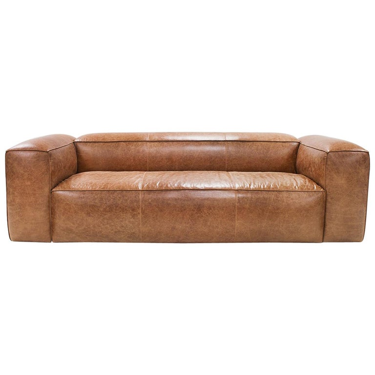 Homeboy Sofa in Brown Genuine Leather