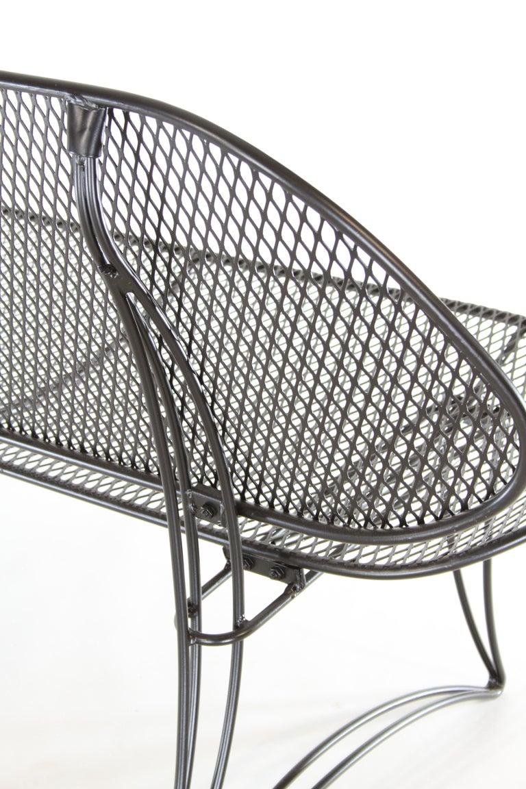 Homecrest Mid Century Modern Wrought Iron Settee Or Bench