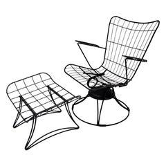 Homecrest Riviera Siesta Swivel Rocker Lounge Chair with Ottoman