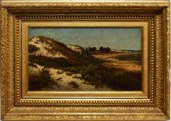 Fire Island Beach View, Antique Hudson River School Painting, Homer Dodge Martin