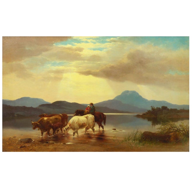 """""""Homeward Bound"""" '1863' American Landscape Painting by Albert Fitch Bellows For Sale"""