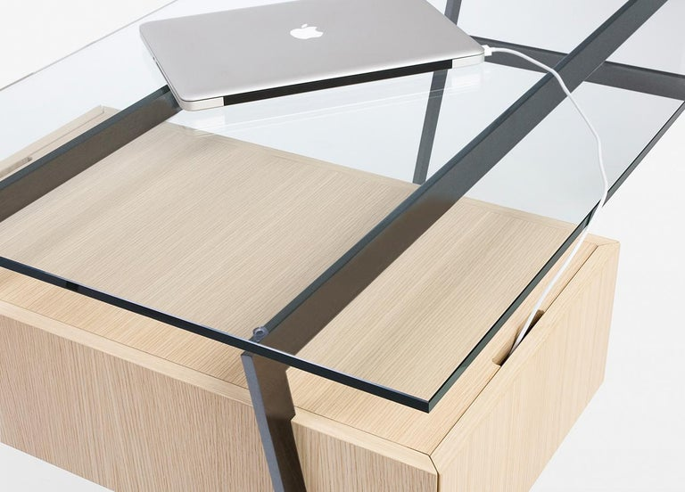 The Homework is a deceivingly simple writing desk. Conceived for home offices or other small offices where the desk will be on display, Homework can be adjusted according to your unique needs.