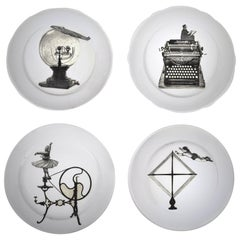 """Homo Faber"": One-of-a-kind Set of 4 Decorated Platters"