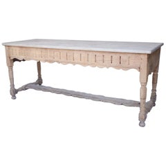 Honed Marble Top Butcher Table