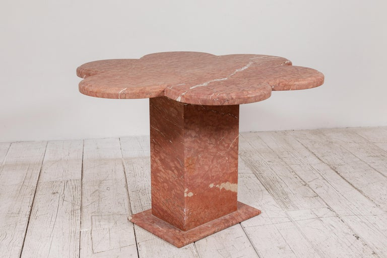 Honed Matte Quartz Scalloped Side Table 3