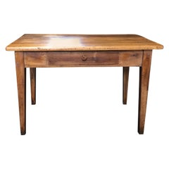 Honest Antique French Walnut Desk or Side Table