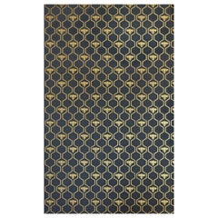 'Honey Bees' Contemporary, Traditional Wallpaper in Gold on Charcoal