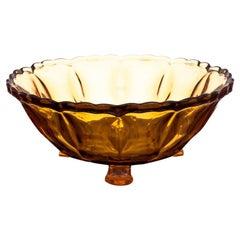 Honey Glass Bowl Poland, 1970s