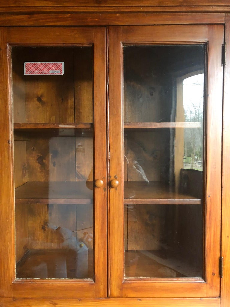 Honey Warm Wood Kitchen Cupboard Cabinet with Lots of Storage 5