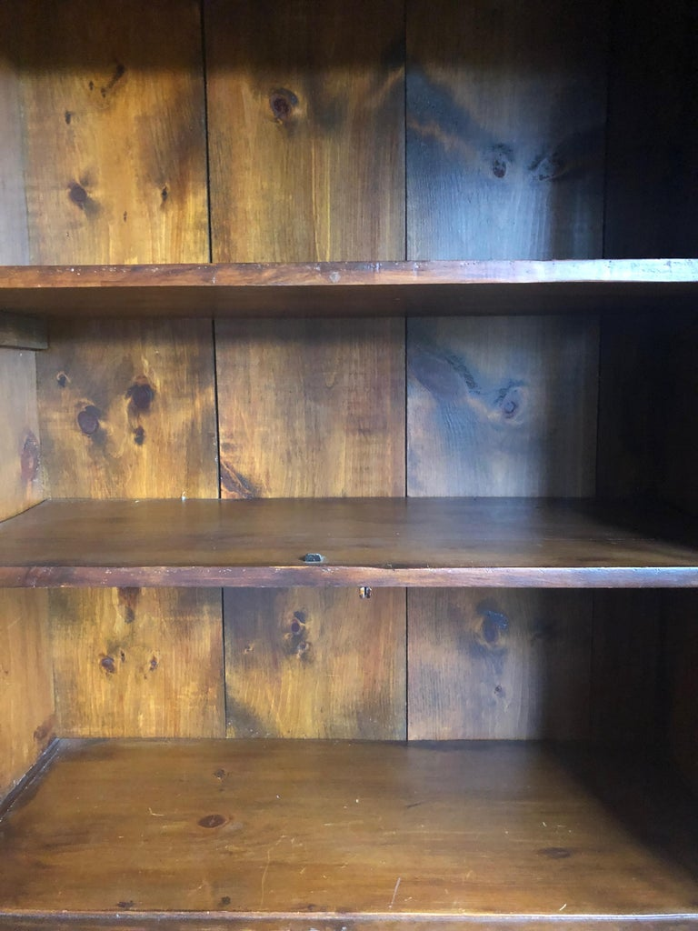 Honey Warm Wood Kitchen Cupboard Cabinet with Lots of Storage 1