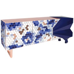 Honeycomb Blue Sideboard Royal Stranger