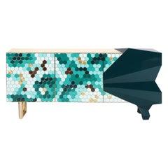 Honeycomb Emerald Sideboard, Royal Stranger