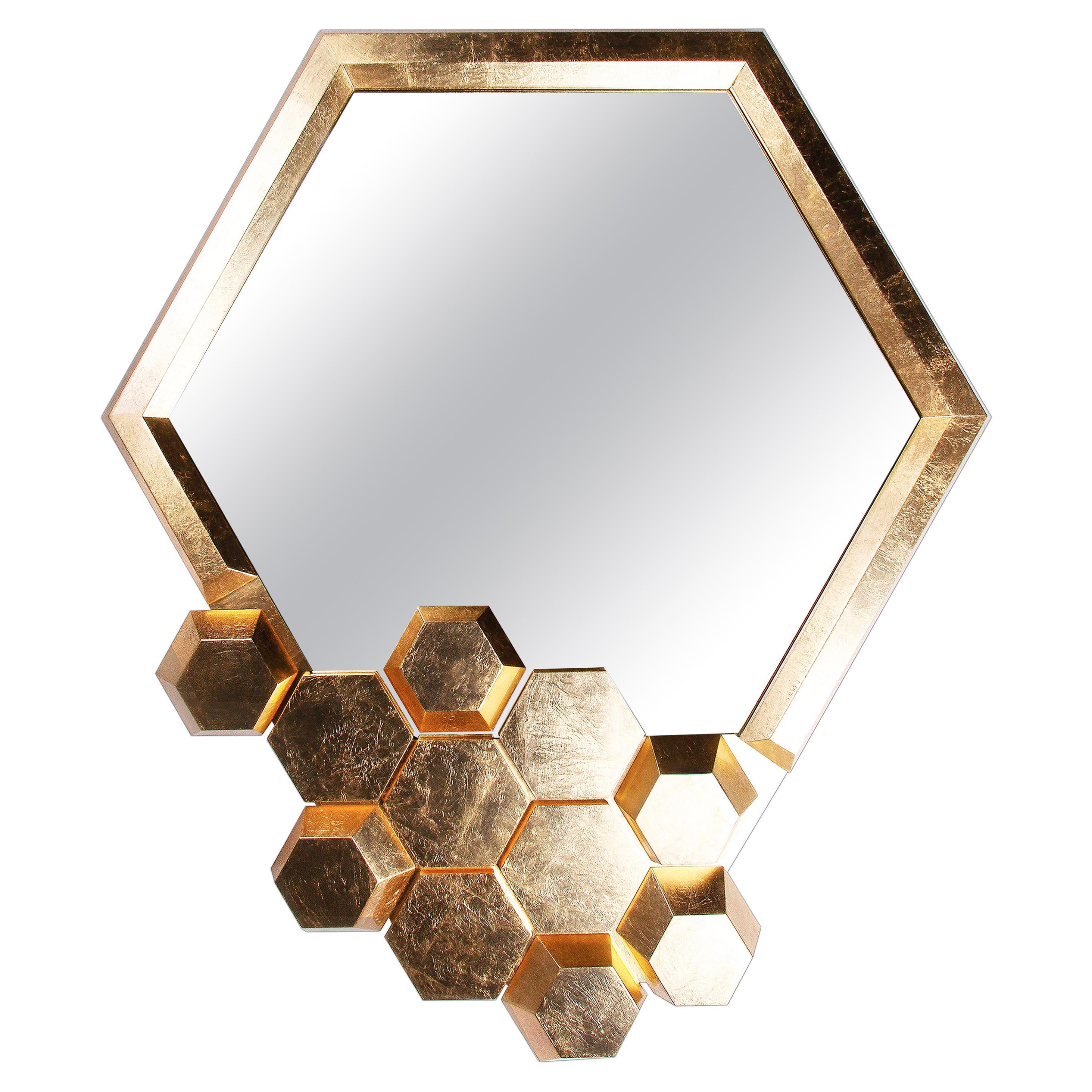 Honeycomb Limited Edition Wall Mirror, Royal Stranger