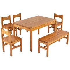 Hongisto Dining Set Designed by Ilmari Tapiovaara for Laukaan Puu, Finland, 1963