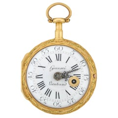 Honnore Lieutaud of Marseille Georgian 18 Karat Gold Diamond Pocket Watch