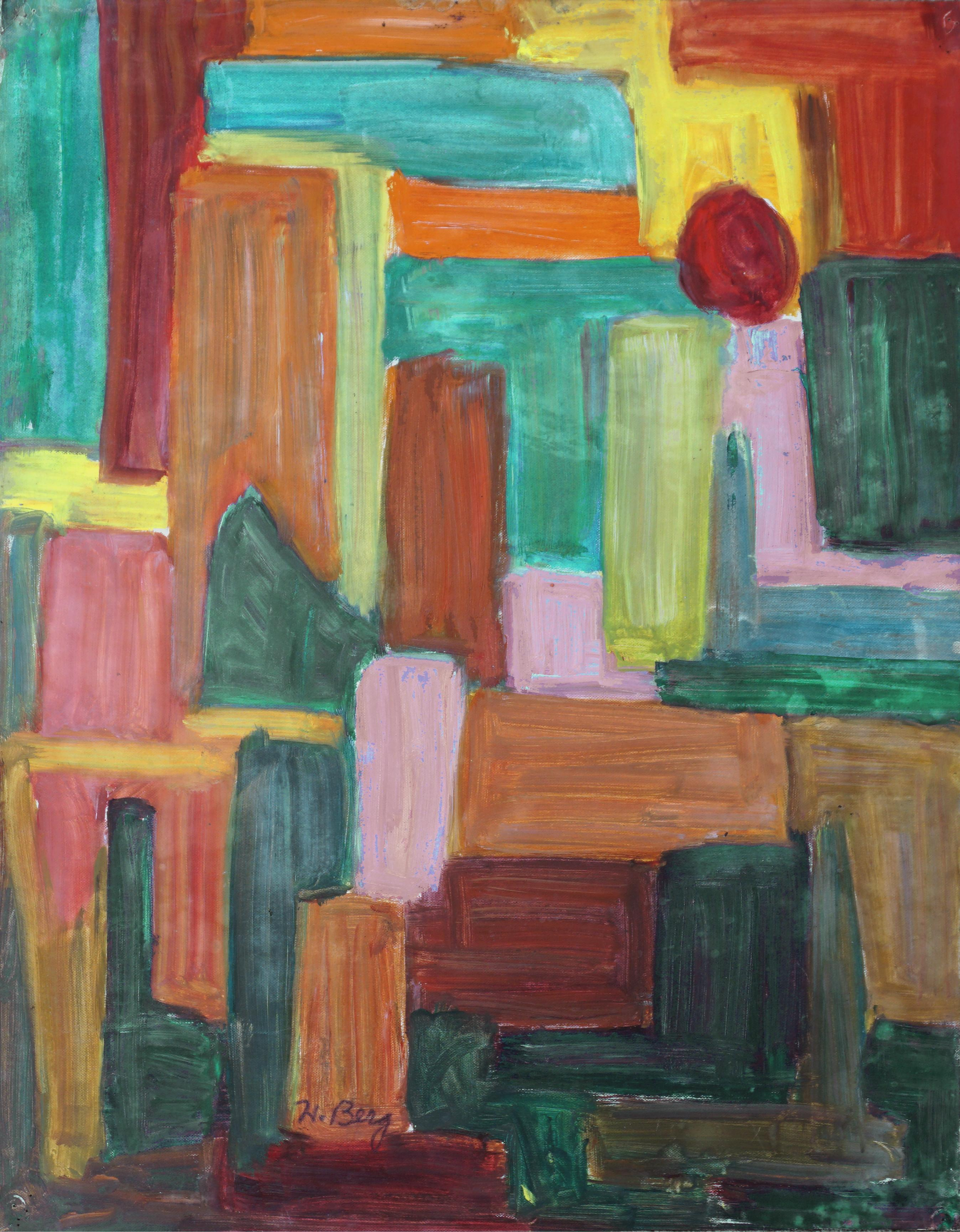 Mid Century Color Field Block Abstract
