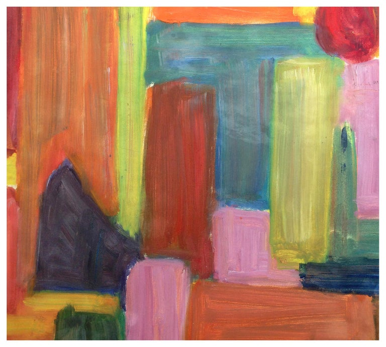 Mid Century Color Field Block Abstract - Painting by Honora Berg