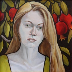 Persephone, oil painting, Texas artist, Realistic painting, Historical Figures