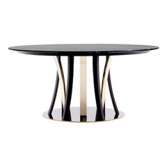 Honore Dark Dining Table by Castello Lagravinese Studio