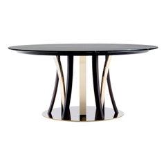 Honore Dark Dining Table by Castello Lagravinese Studio