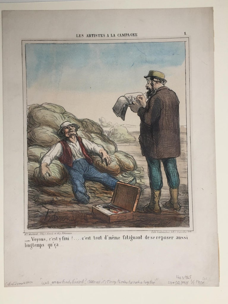 ARTIST IN THE COUNTRYSIDE - Print by Honoré Daumier